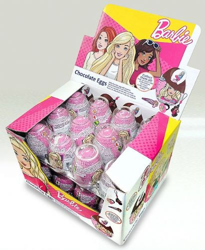 BAR01 BARBIE CHOCOLATE EGG  x 24